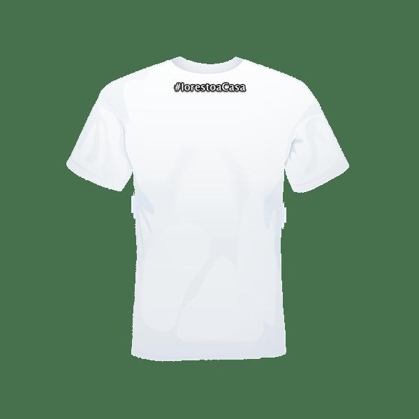 T-shirt #iorestoacasa bianca retro