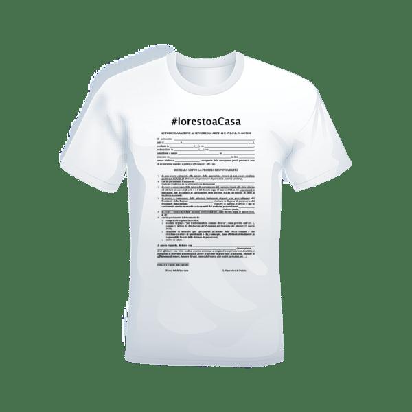 T-shirt #iorestoacasa bianca