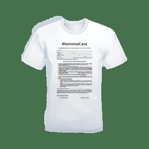 T-shirt bianca 100% cotone personalizzata #iorestoacasa