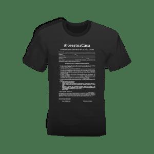T-shirt nera 100% cotone personalizzata #iorestoacasa