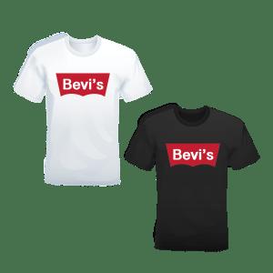 T-shirt Bevis bianca o nera
