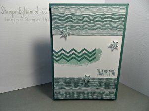 Stampin Up! Moonlight thank you