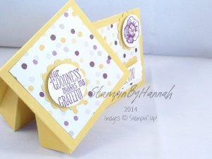 Stampin' Up! UK Twist Turn Card Gift card holder