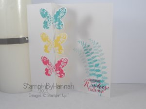 Stampin' Up! UK partial die cutting technique video butterfly basics
