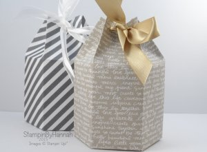 Hexagonal gift bag