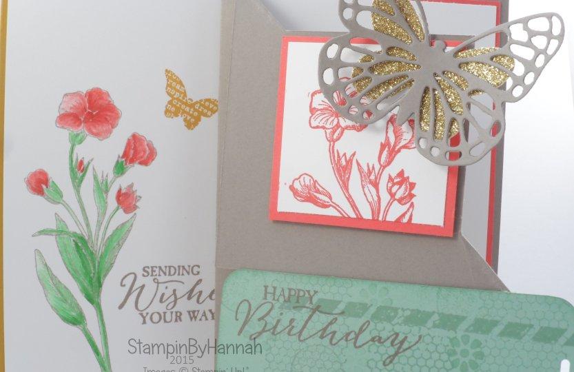 Stampin' Up! UK Butterfly Basics Corner fold card