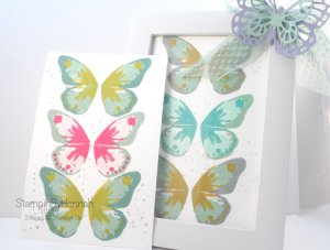 Stampin' Up! Decorated Frames Home decor stamping butterflies