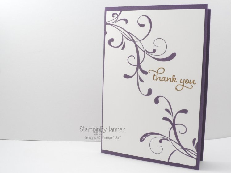 Stampin' Up! UK Everything Eleanor Thank you card