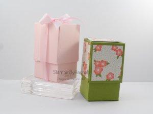 Stampin' Up! UK box tutorial pretty petals