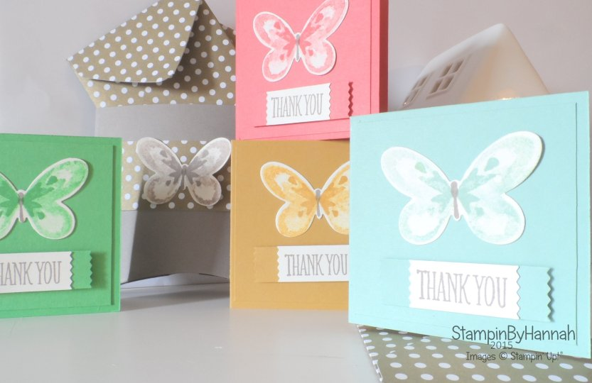 Stampin' Up! UK Watercolour Wings Note Card Collection