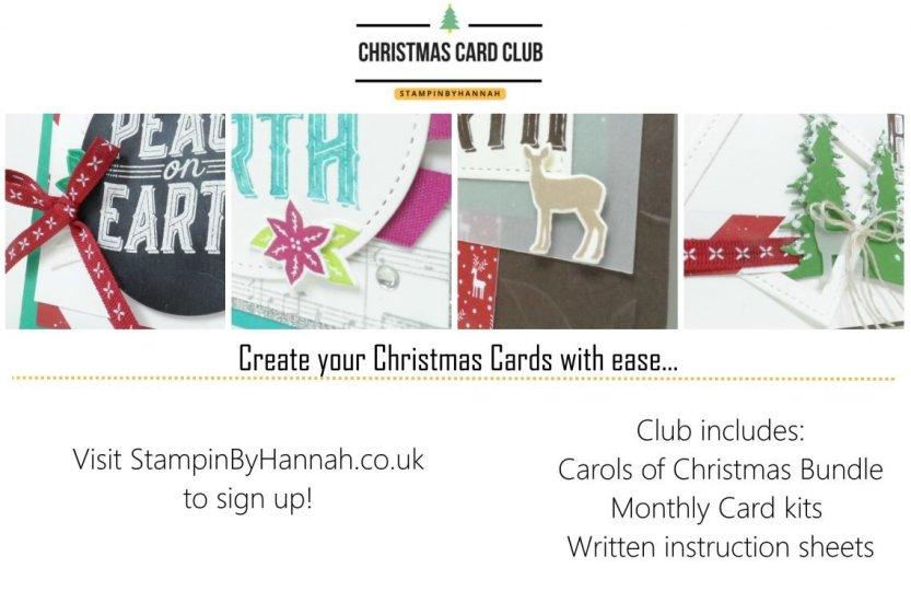 StampinByHannah Christmas Card Club 2017