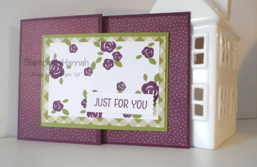 Stampin' Up! UK joy fold Farmers Market Floral Wings