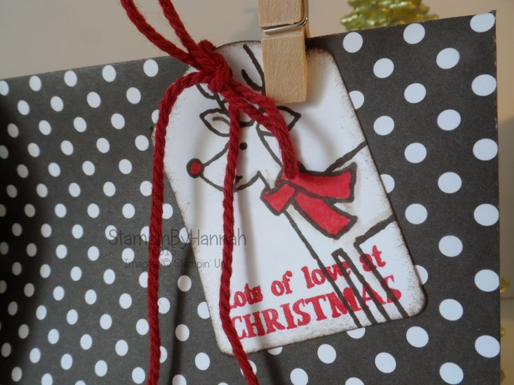 Stampin' Up! UK 12 Weeks of Christmas Gift Tag