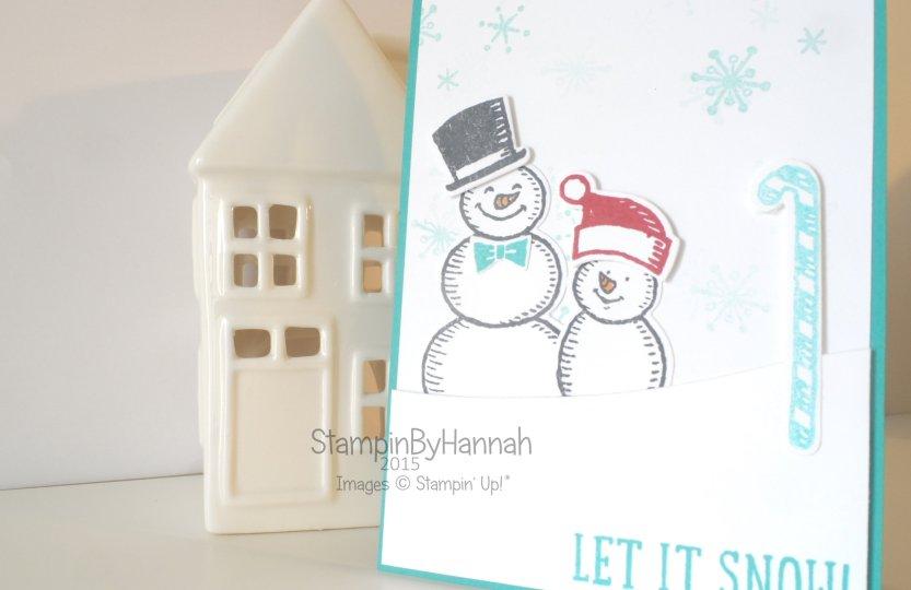 Stampin' Up! UK Snowman card