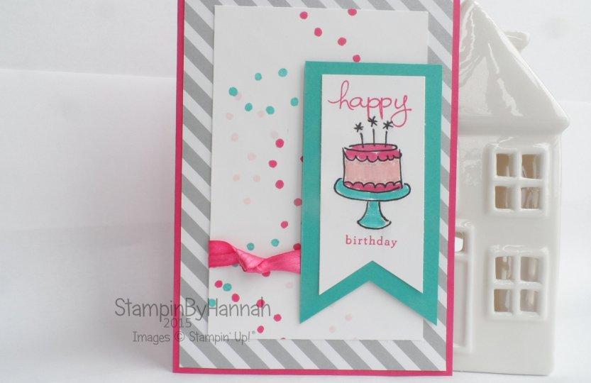 Stampin' Up! UK Endless Birthday Wishes Cake Card