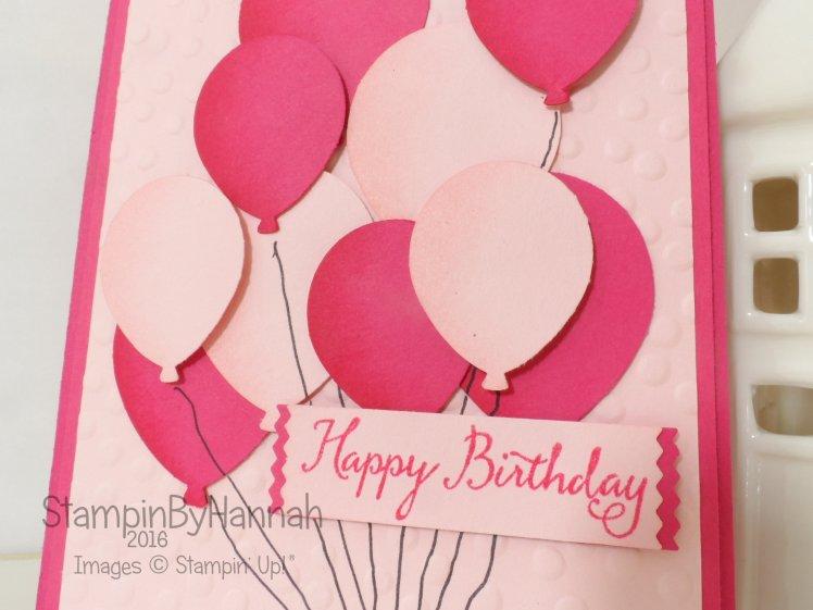 Stampin' Up! UK Balloon Celebration Birthday card