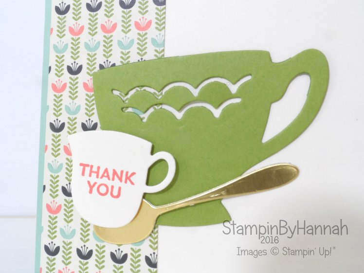 Stampin' Up! UK A Nice Cuppa Thank you
