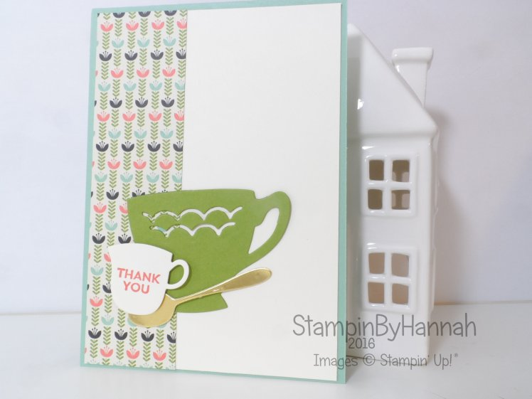 Stampin' Up! UK A Nice Cuppa Thank you card