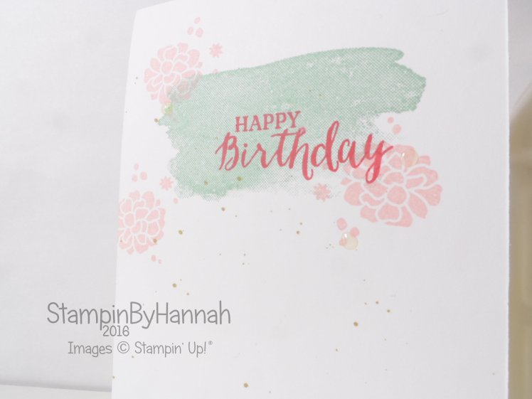 Stampin' Up! UK One layer Birthday card perpetual birthday