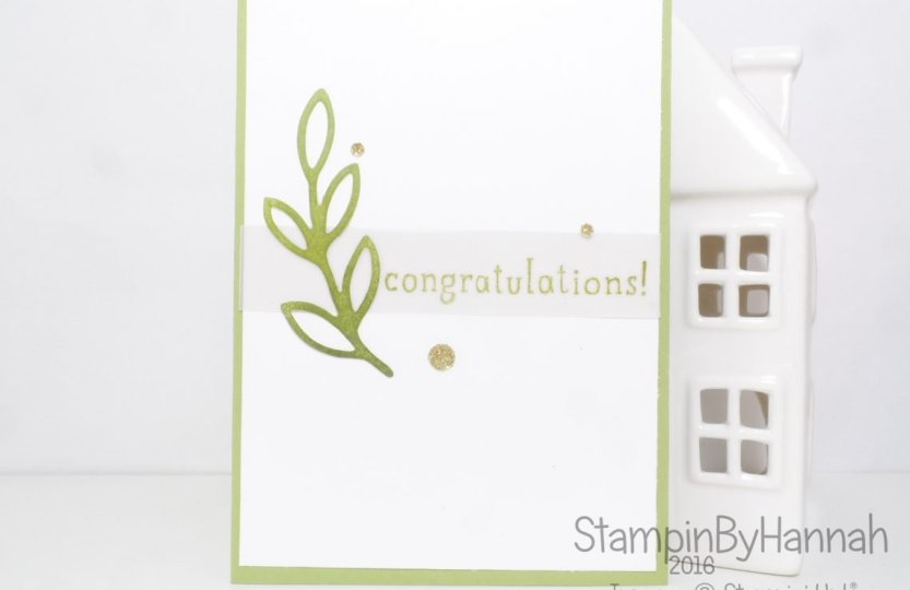Stampin' Up! UK Rose Garden Congratulations Card