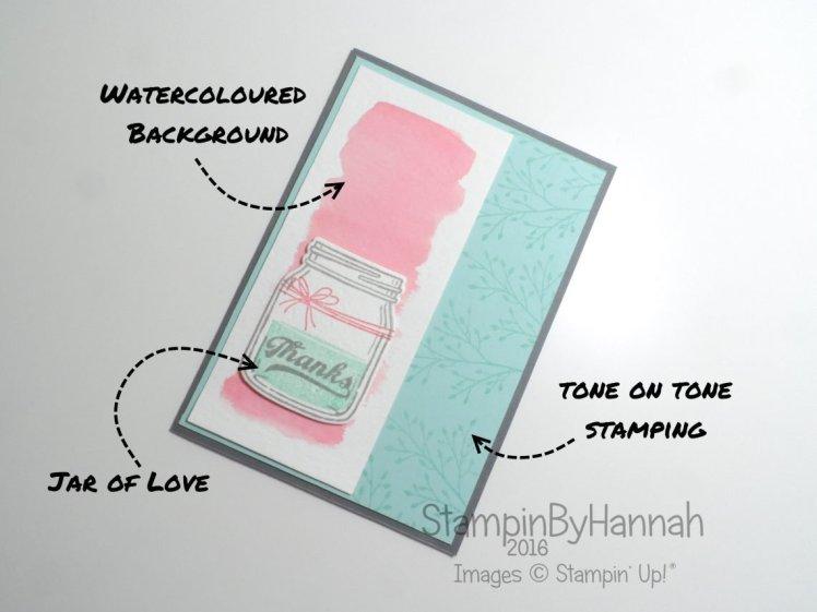 Jar of Love Thanks Card Stampin' Up! UK