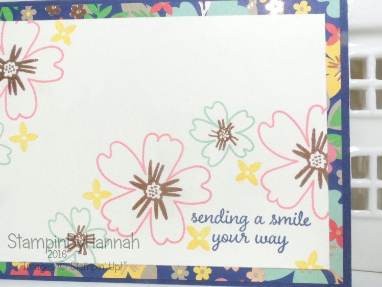 Sending a smile card Love and Affection Stampin' Up! UK