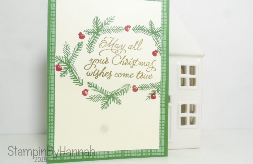 Christmas Card using Peace this Christmas for Christmas In July Stampin' Up! UK