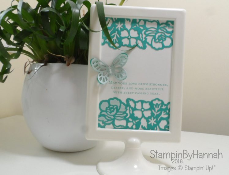 Home Decor Frame using Floral Phrases from Stampin' Up! Uk and an IKEA frame