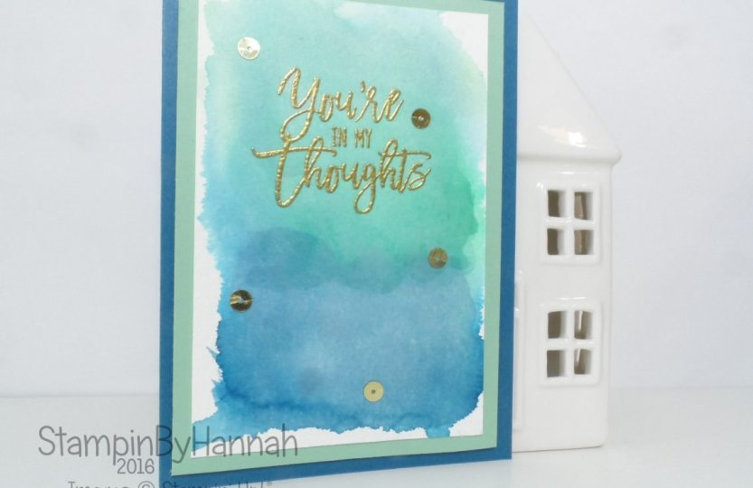 Watercolour Background Thoughtful Branches card using Stampin' Up! UK supplies