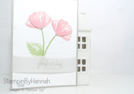 Perfect Day Wedding Congratulations card using Bunch of Blossoms from Stampin' Up! UK