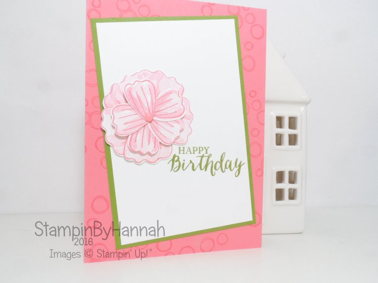 Birthday card using Bunch of Blossoms and Playful Backgrounds from Stampin' Up! UK