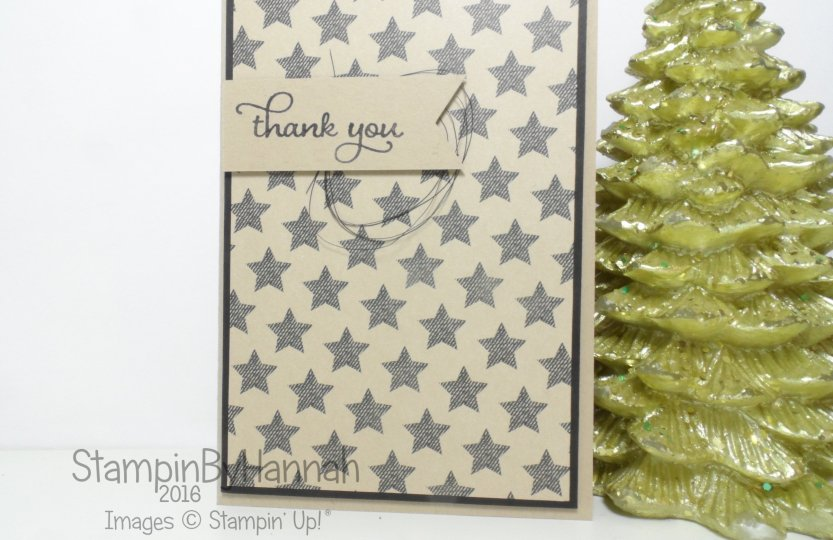 September Customer Thank You Cards using Warmth and Cheer from Stampin' Up! UK