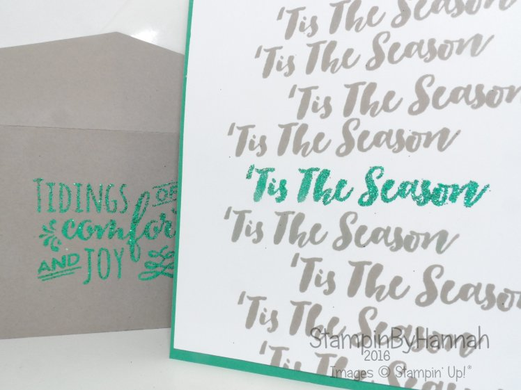 Make It Monday Gift card holder using Christmas Pines from Stampin' Up! UK