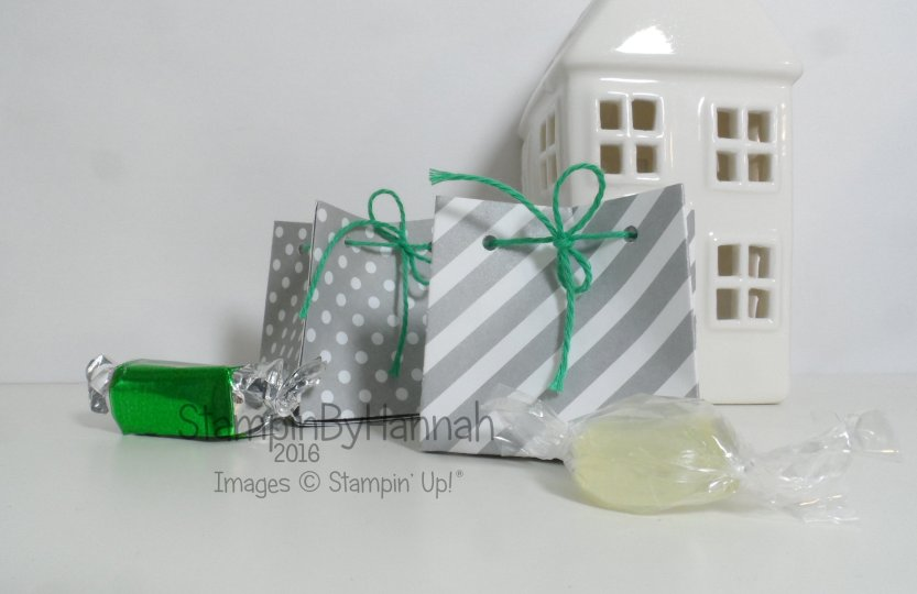 12 Days of Christmas Minty Designer Series Paper Pocket bag video tutorial table favours using DSP from Stampin' Up! UK