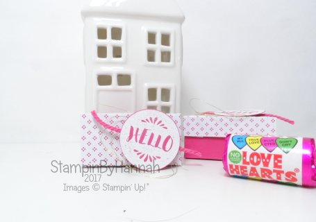 Love Hearts Week Mini Lided Box Tutorial using Pop of Pink from Stampin' Up! UK