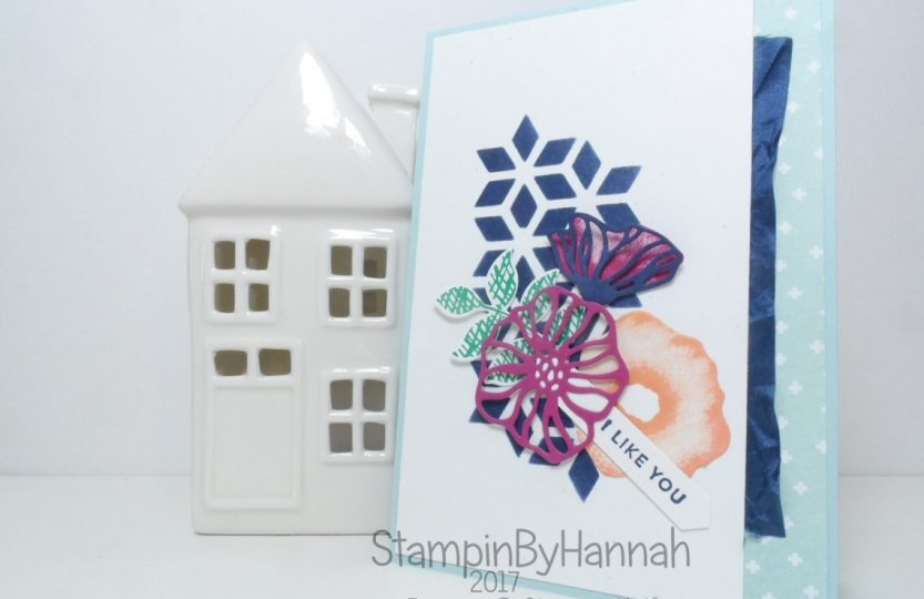 I Like You Friends Thank You Card using Oh So Eclectic from Stampin' Up!
