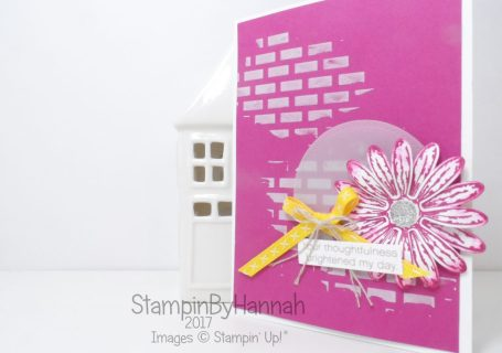Berry Burst Embossing Paste Kindness card using Daisy Delight and Daisy Punch from Stampin' Up!