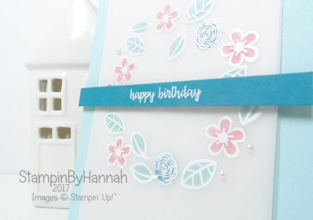 Make It Monday Team Training Swap card Faux Stained Glass technique using Happy Birthday Gorgeous from Stampin' Up!