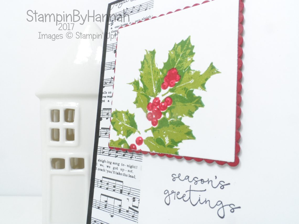 Make it Monday Christmas Card video tutorial using Good Tidings from Stampin' Up!
