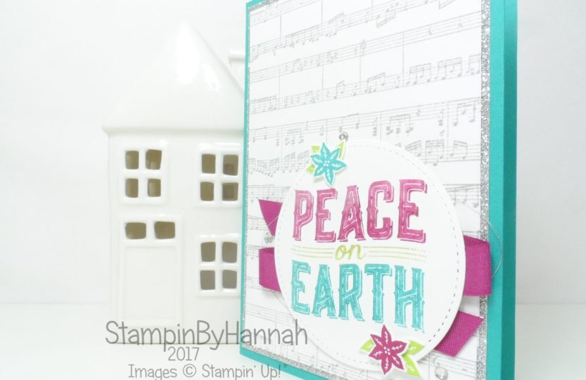 Non traditional Christmas Card using Carols of Christmas from Stampin' Up!