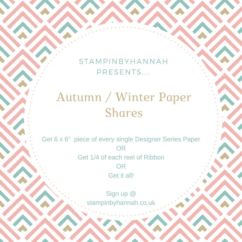 Stampin up Autumn Winter Designer Series Paper shares