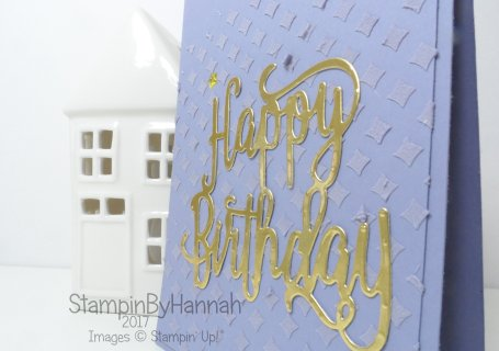 Tone on Tone Embossing Paste Video Tutorial using Happy Birthday Thinlit from Stampin' Up!