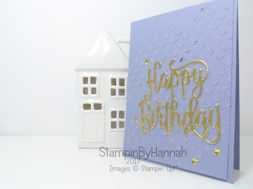 Tone on Tone Embossing Paste Video Tutorial using Happy Birthday Thinlit from Stampin' Up! UK