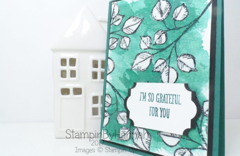 Fun Watercoloured Thank You card using Fine Tip Glue Technique and Remarkable You from Stampin' Up!