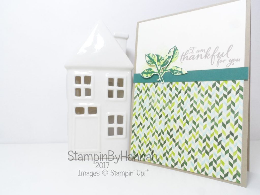 Make It Monday Video Tutorial Painted Autumn Thank you card using Painted Harvest from Stampin' Up!