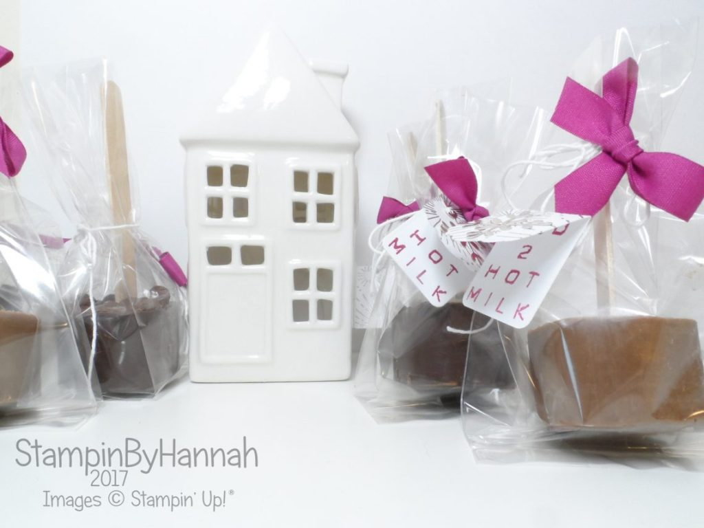 Christmas Countdown How to make real Hot Chocolate and package using Stampin' Up! Supplies