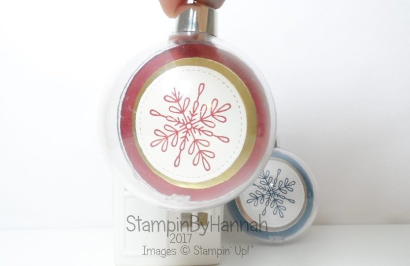 Christmas Countdown DIY Clear Bauble using Snowflake Sentiments from Stampin' Up!