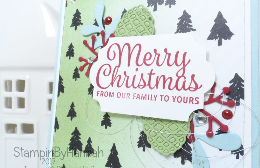 Global Design Project Merry Christmas Card using Snowflake Sentiments from Stampin' Up!