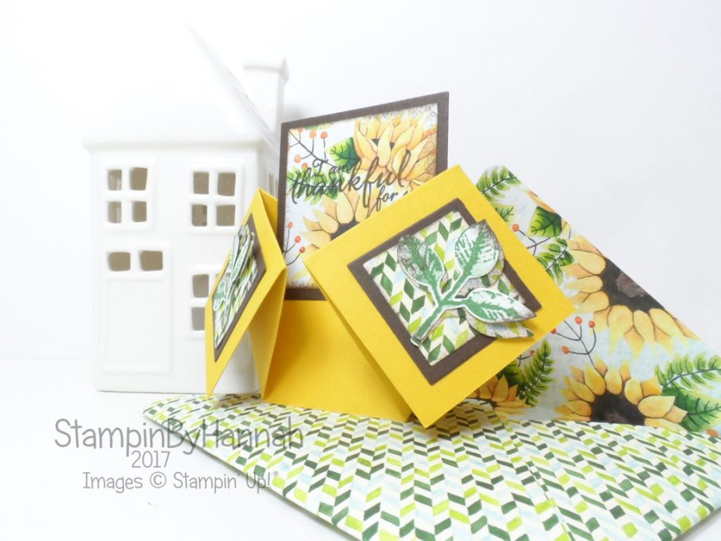 Inspire.Create.Challenges Double Diamond Fold Card using Painted Autumn from Stampin' Up!