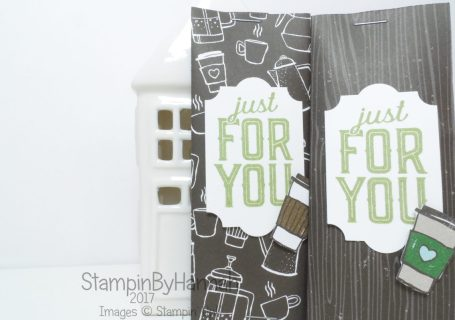 Make It Monday Cute pockets using Coffee Break Designer Series Paper from Stampin' Up!
